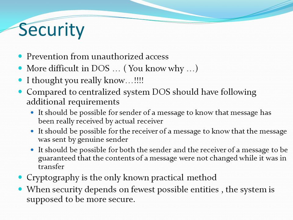 Security Prevention from unauthorized access