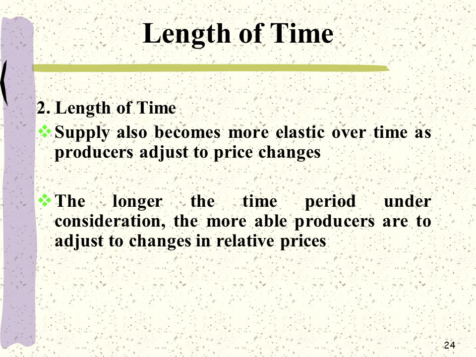 Length of Time 2. Length of Time