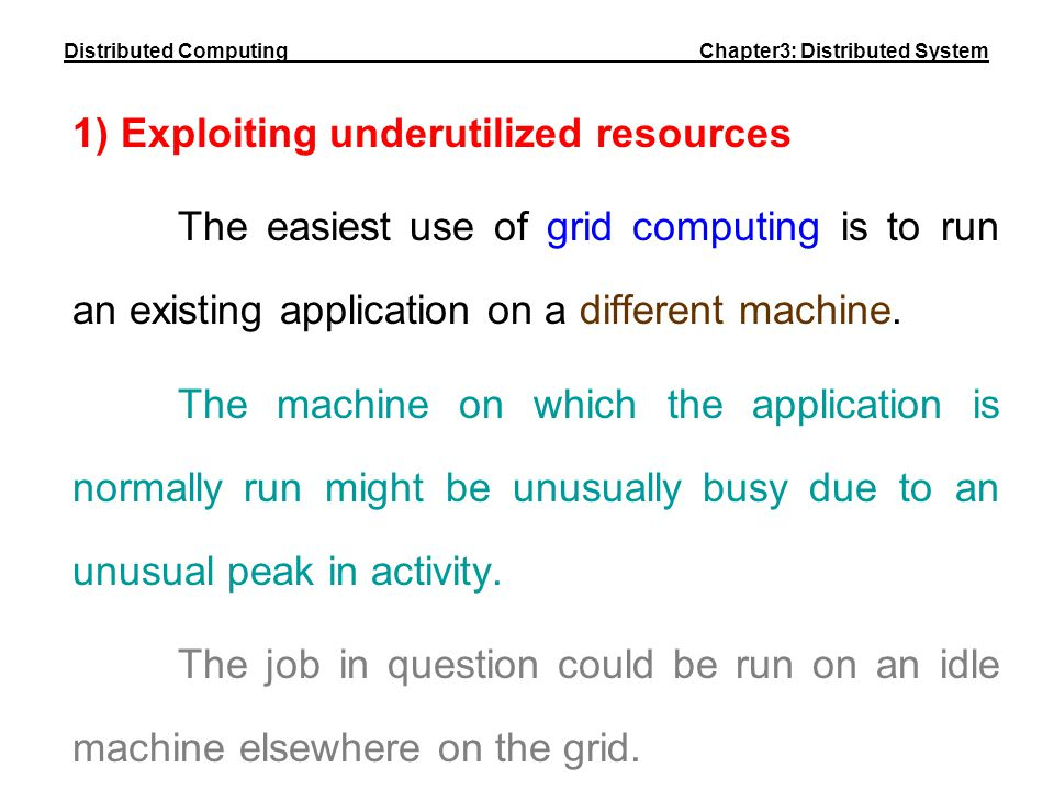 Distributed Computing Chapter3: Distributed System