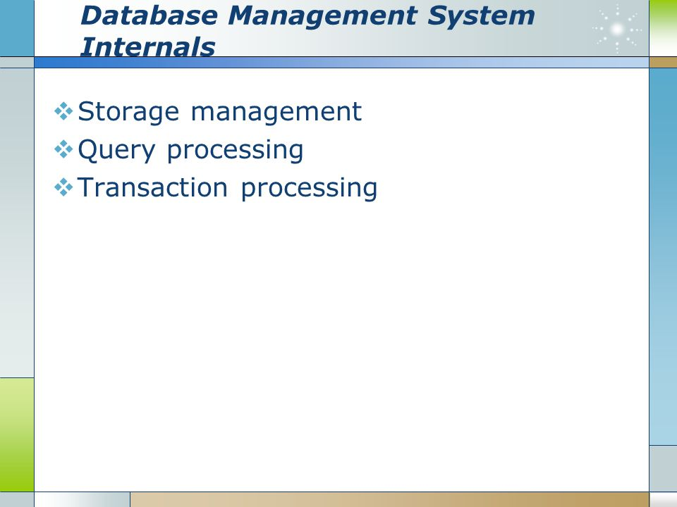Database Management System Internals