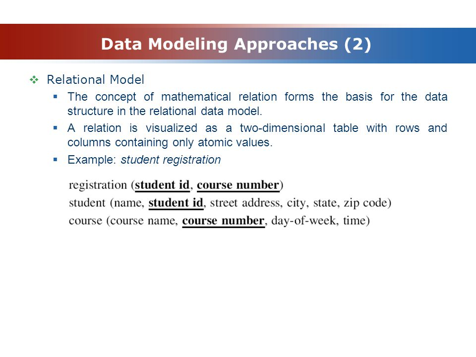 Data Modeling Approaches (2)