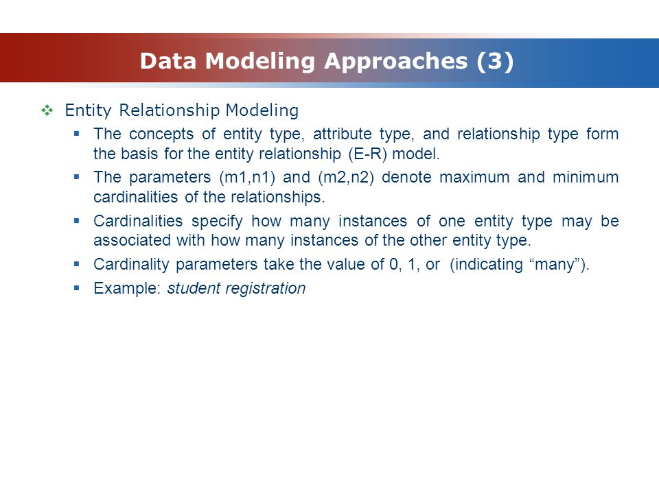 Data Modeling Approaches (3)