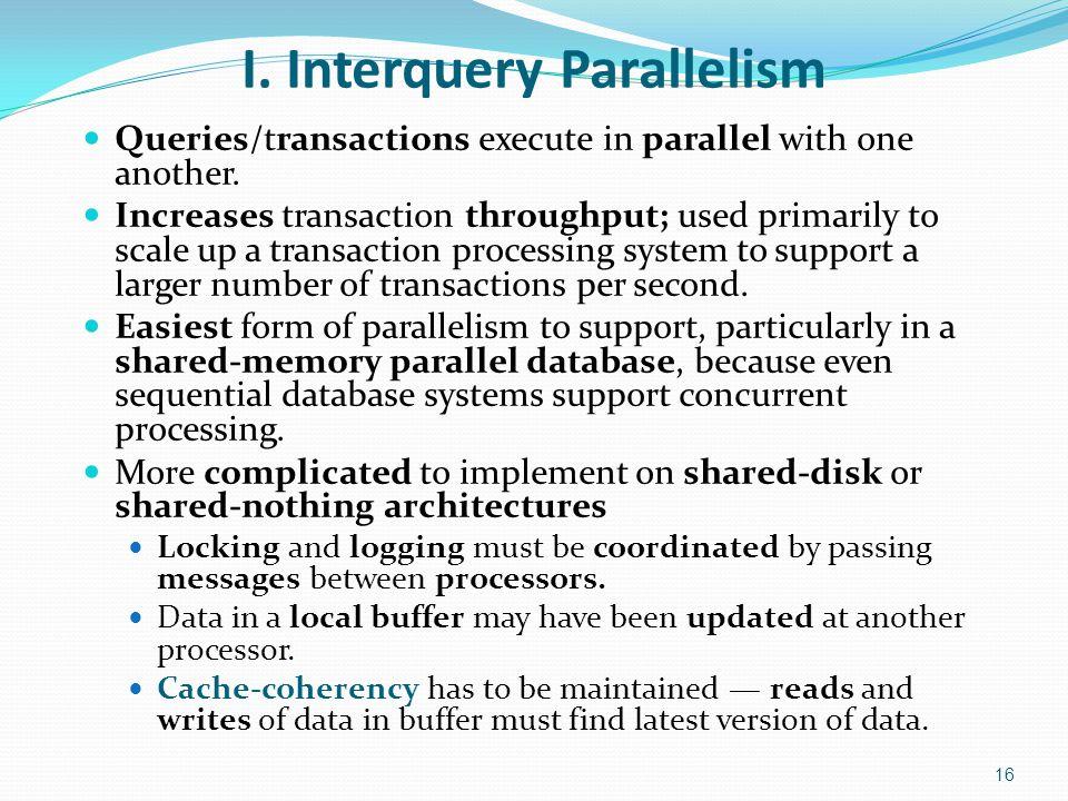 I. Interquery Parallelism