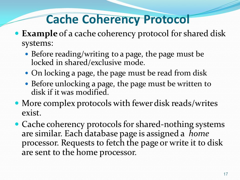 Cache Coherency Protocol
