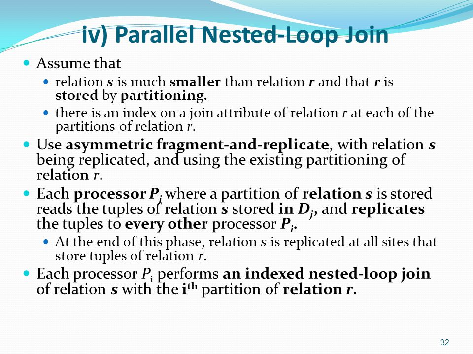 iv) Parallel Nested-Loop Join