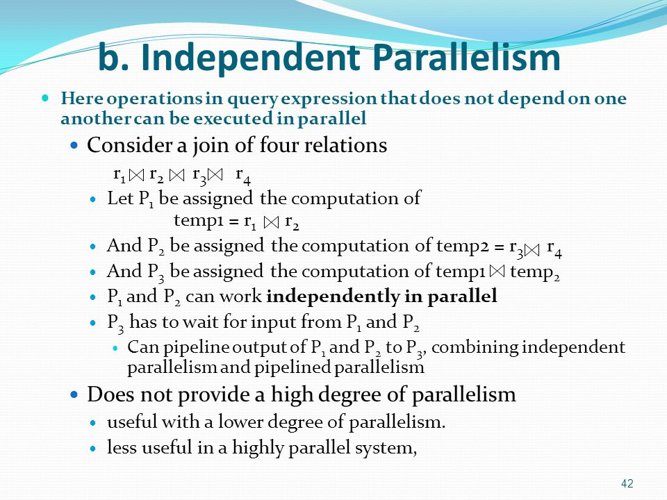 b. Independent Parallelism