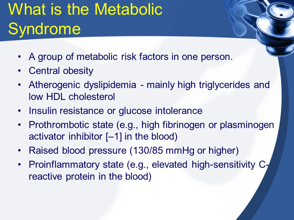 What is the Metabolic Syndrome