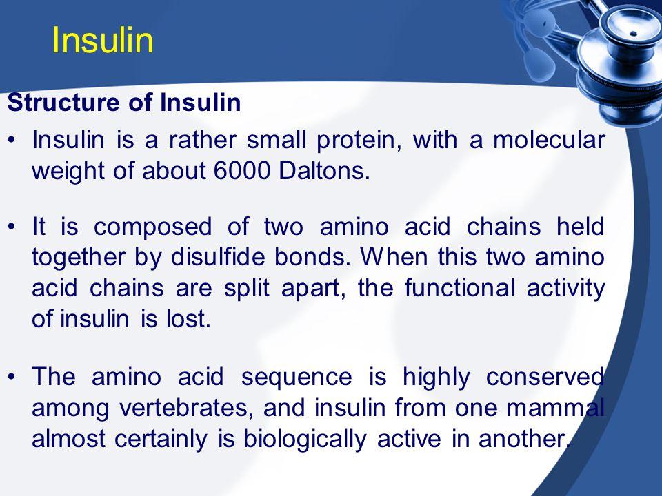 Insulin Structure of Insulin