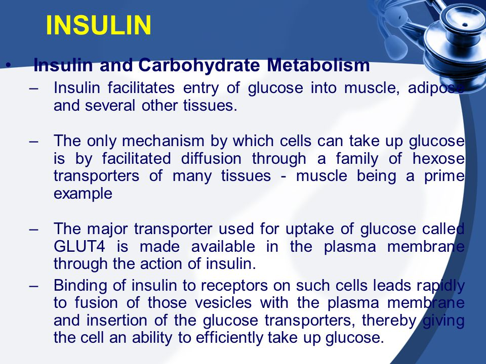 INSULIN Insulin and Carbohydrate Metabolism