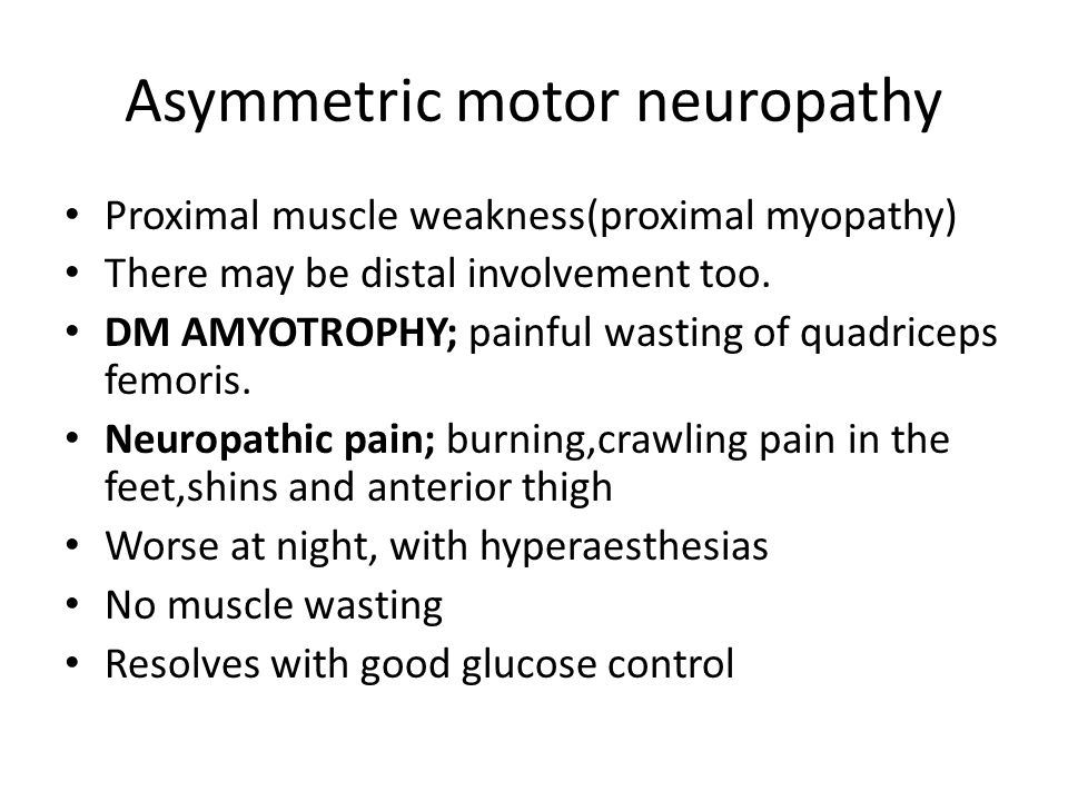 Asymmetric motor neuropathy