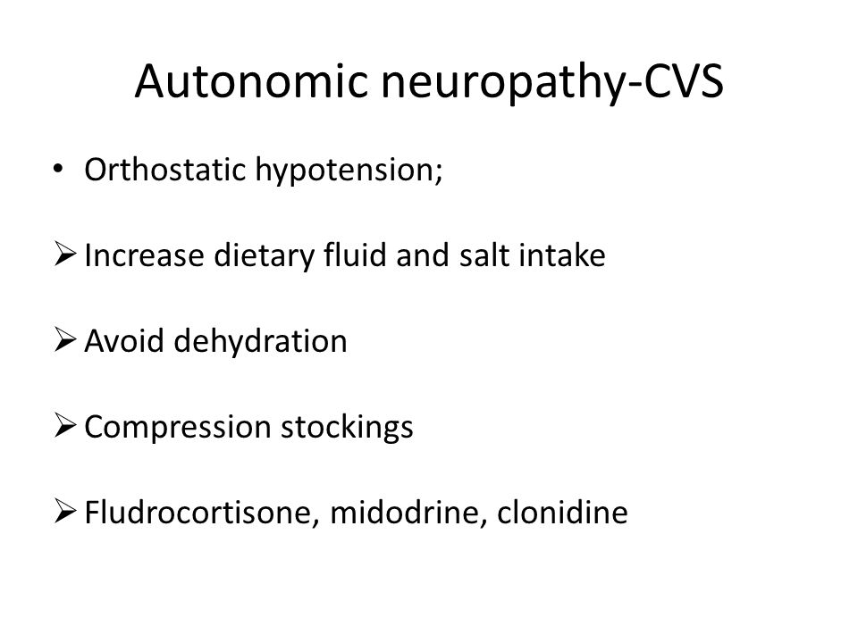 Autonomic neuropathy-CVS