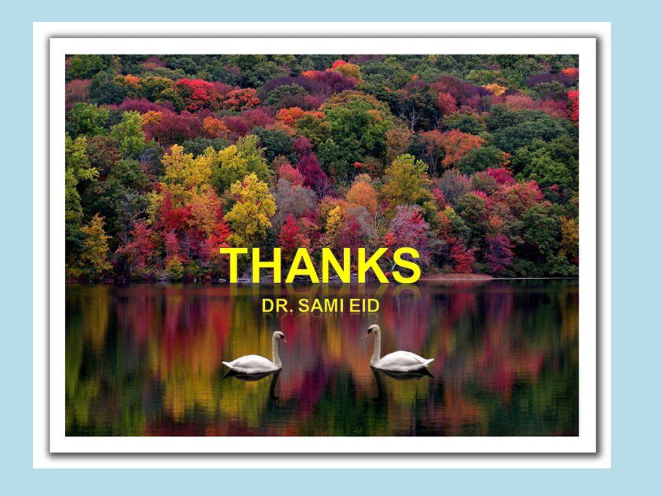 Thanks Dr. Sami eid