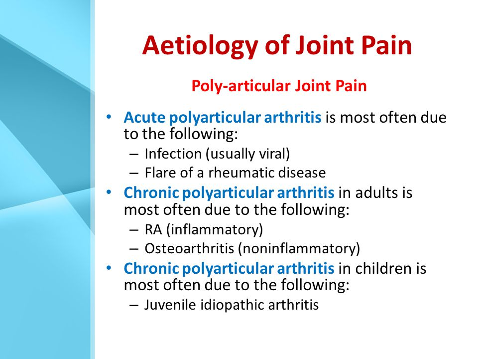 Aetiology of Joint Pain