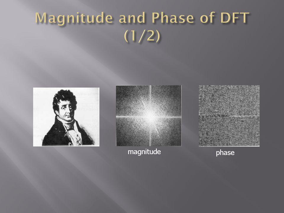 Magnitude and Phase of DFT (1/2)
