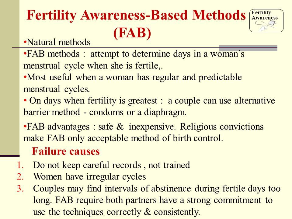 Fertility Awareness-Based Methods