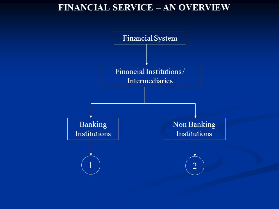 FINANCIAL SERVICE – AN OVERVIEW