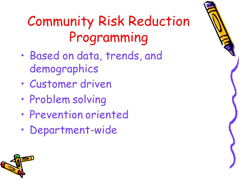 Community Risk Reduction Programming