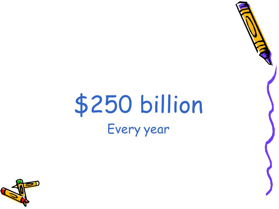 $250 billion Every year