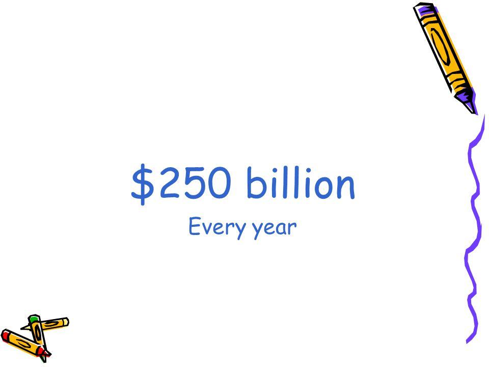 $250 billion Every year