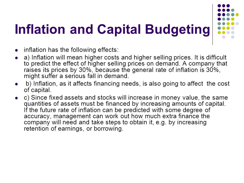 Inflation and Capital Budgeting