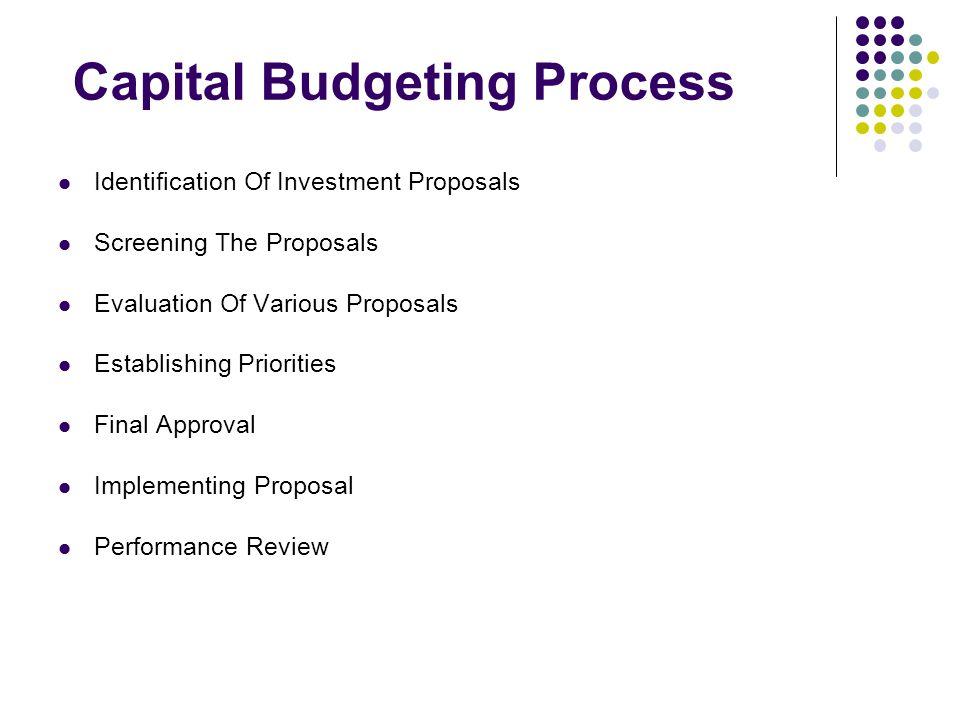 Capital Budgeting Process