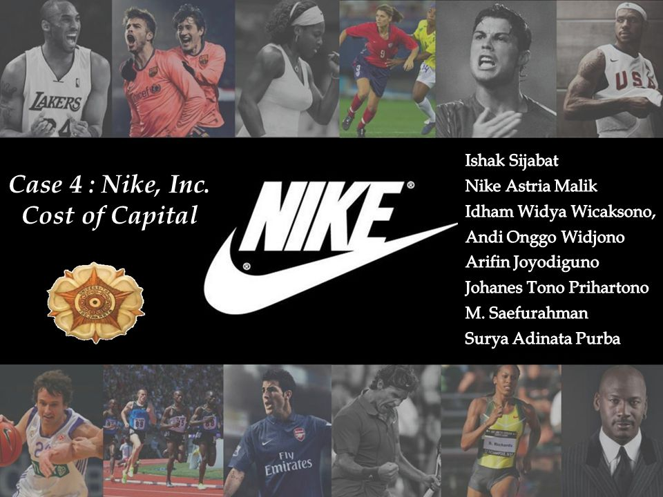 nike cost of capital Nike: cost of capital : we recommend a buy for nike's stock on july 6, 2001 our analysis consists of a discounted cash flows model we projected unlevered free cash flows over the next 10 years and discounted them according to our derivation of nike's weighted average cost of capital.
