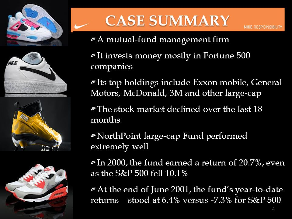 CASE SUMMARY A mutual-fund management firm