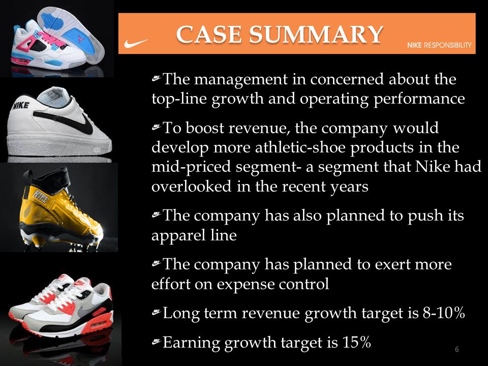 CASE SUMMARY The management in concerned about the top-line growth and operating performance.