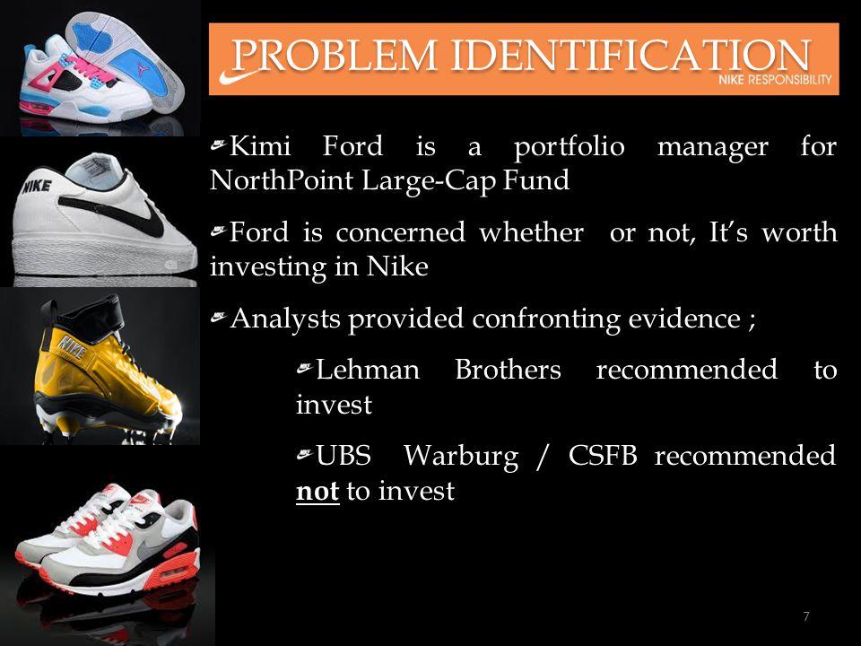nike case analysis kimi ford Caso nike: costo de capital el 5 de julio de 2001, kimi ford, el administrador de cartera de northpoint group, una empresa de fondos de inversión, analizaba la.
