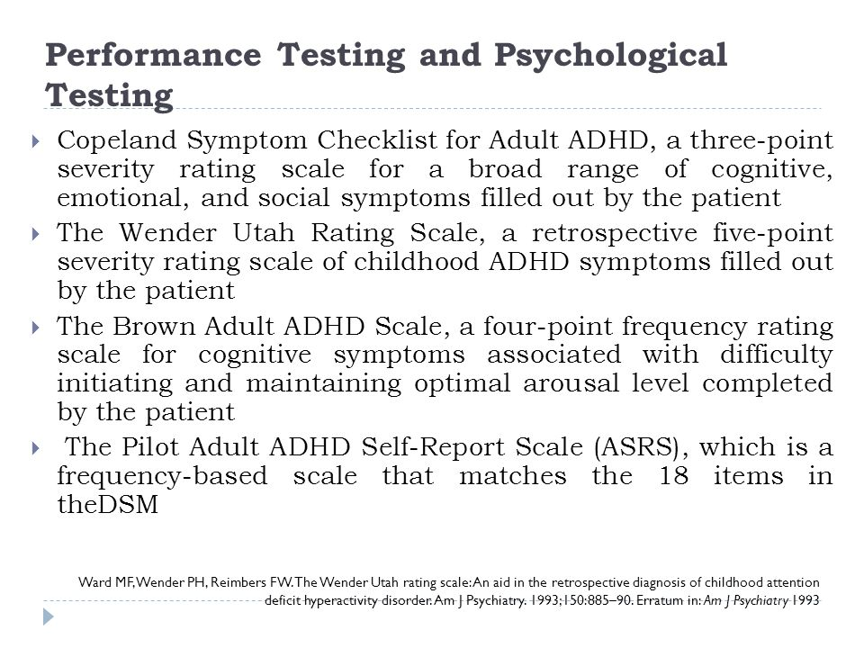 Performance Testing and Psychological Testing