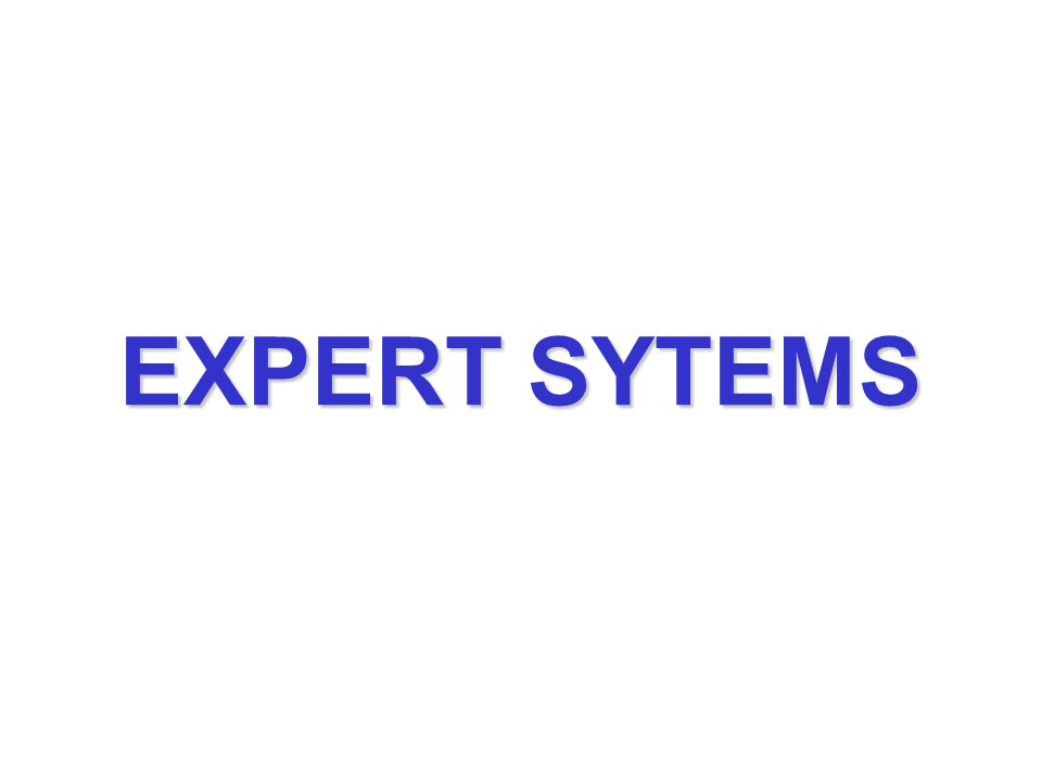 EXPERT SYTEMS
