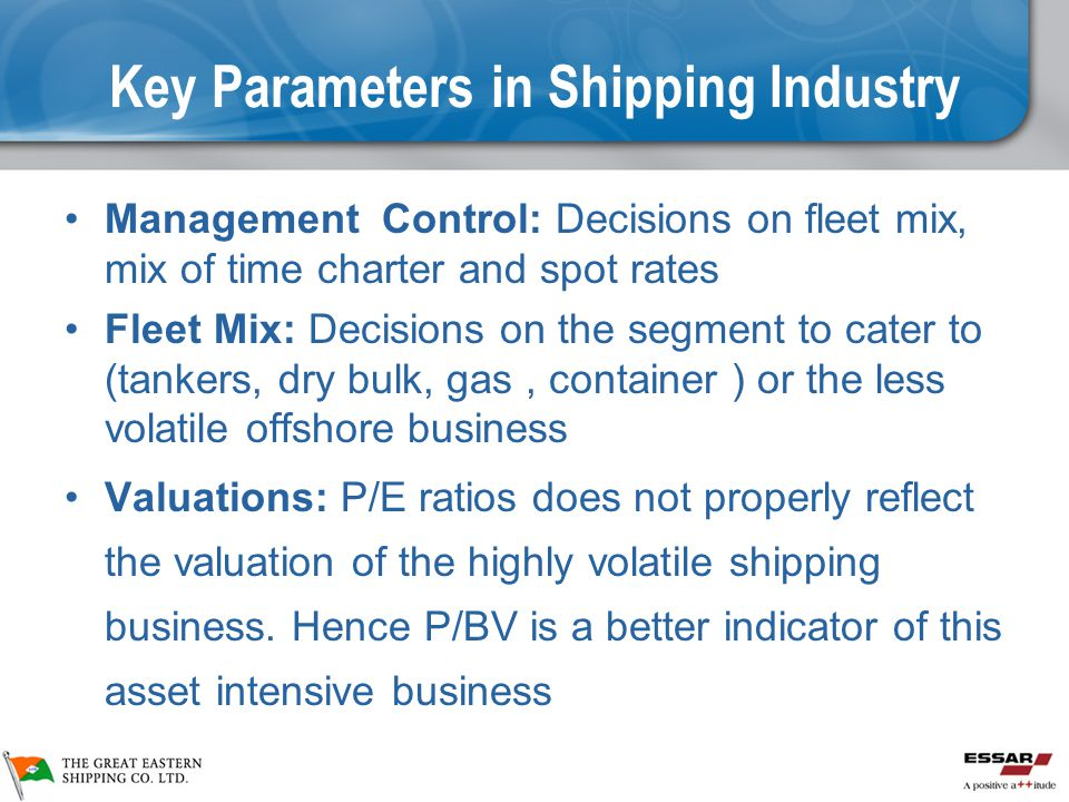 Key Parameters in Shipping Industry