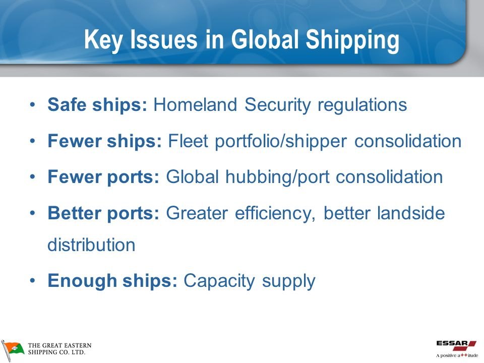 Key Issues in Global Shipping