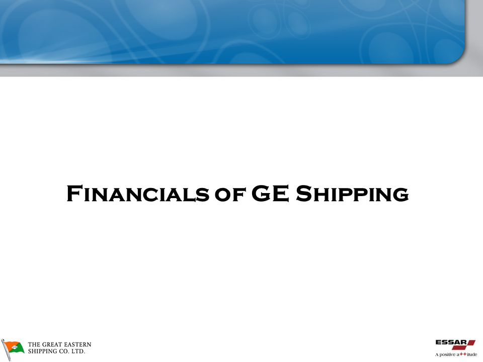 Financials of GE Shipping