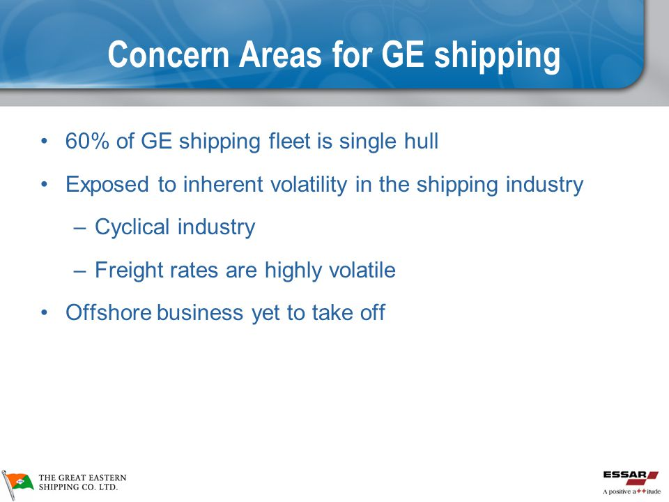 Concern Areas for GE shipping