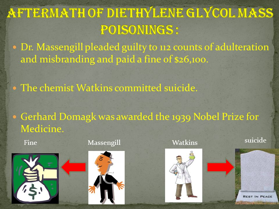 Aftermath of Diethylene Glycol Mass Poisonings :
