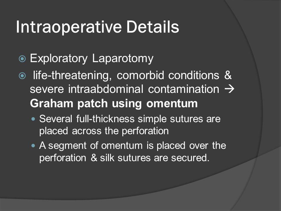 Intraoperative Details