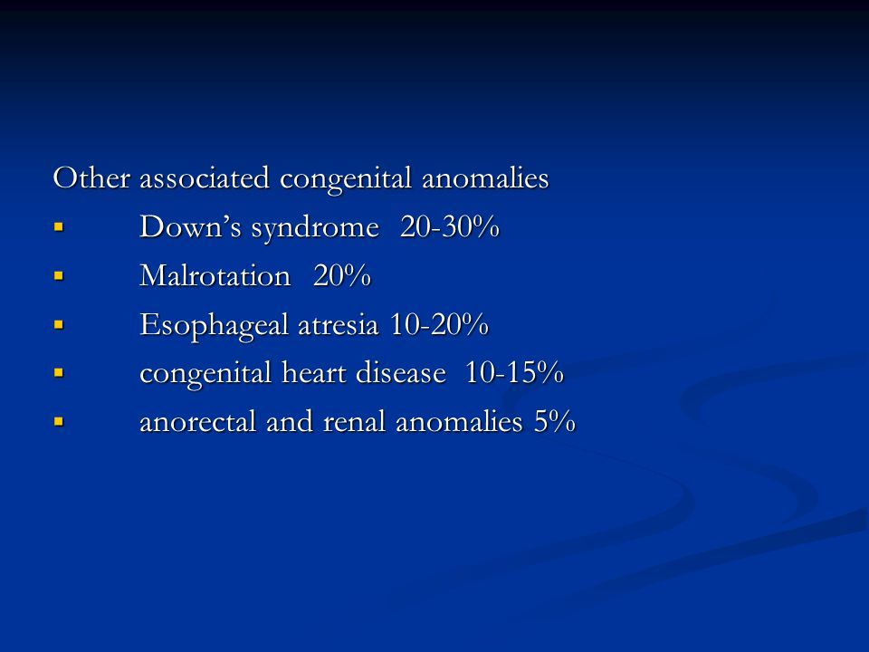Other associated congenital anomalies