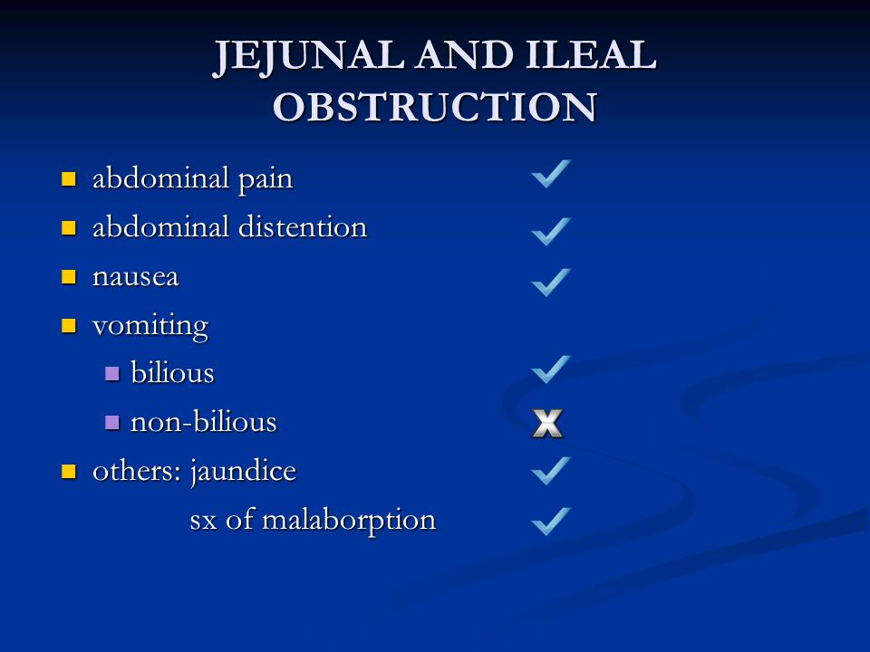 JEJUNAL AND ILEAL OBSTRUCTION
