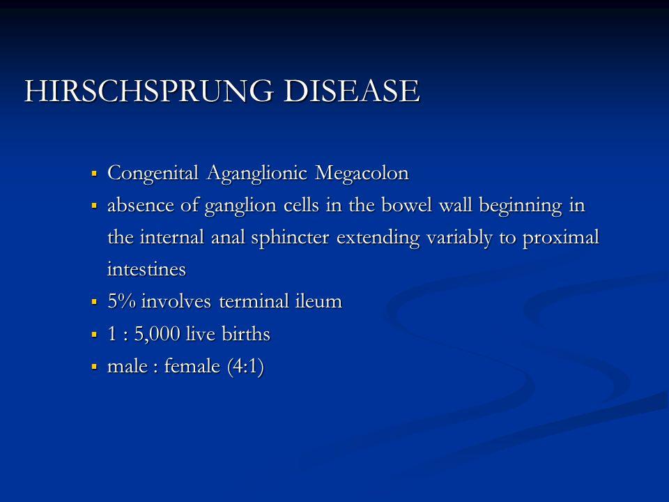 HIRSCHSPRUNG DISEASE Congenital Aganglionic Megacolon