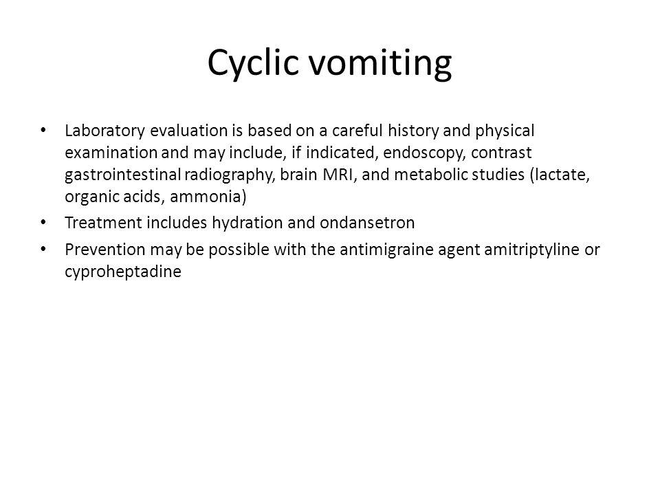Cyclic vomiting