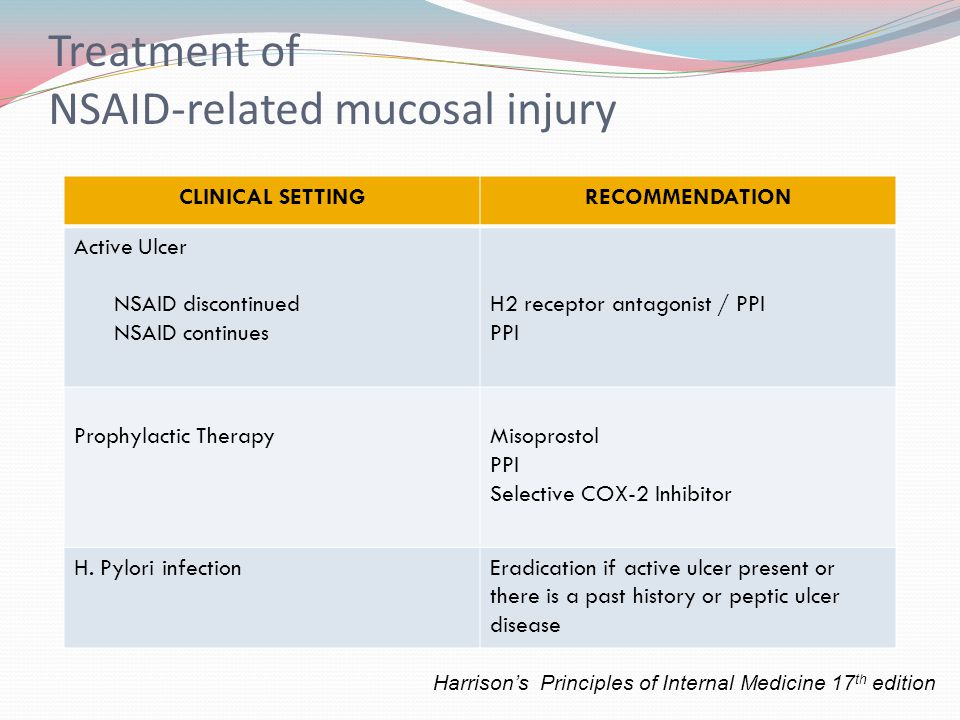 Treatment of NSAID-related mucosal injury