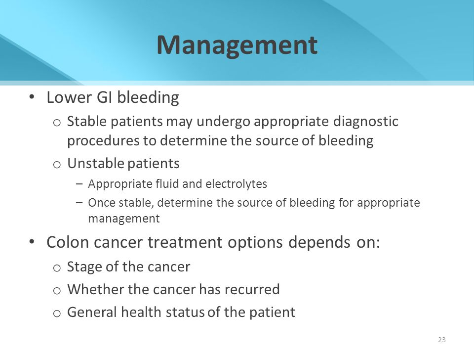 Management Lower GI bleeding