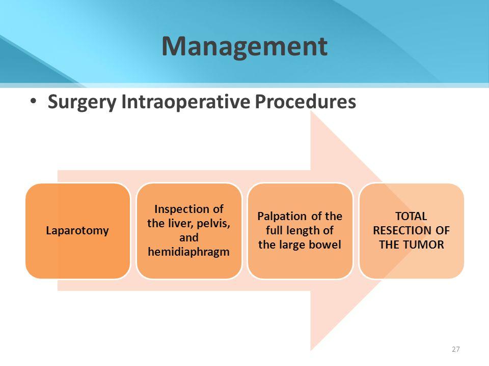 Management Surgery Intraoperative Procedures Laparotomy