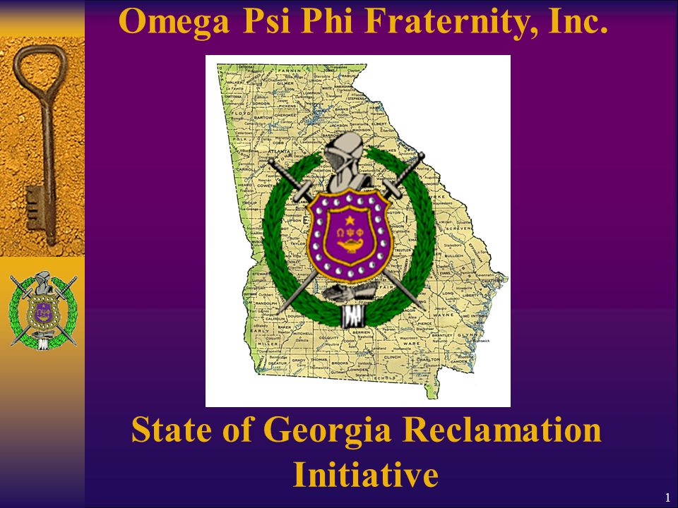 Omega Psi Phi Fraternity, Inc. State of Georgia Reclamation