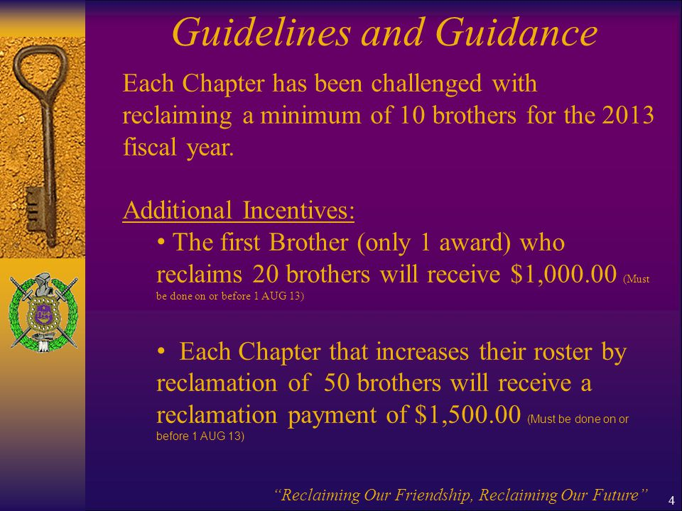 Guidelines and Guidance