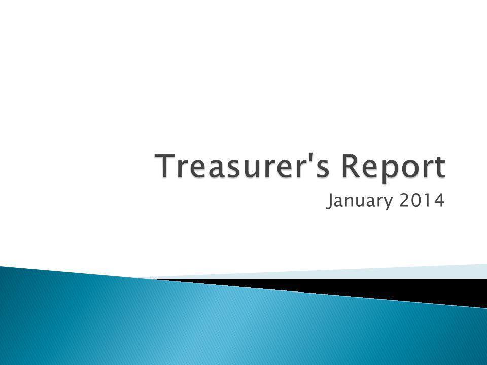 Treasurer s Report January 2014