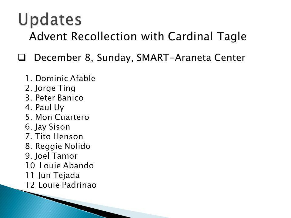 Updates Advent Recollection with Cardinal Tagle