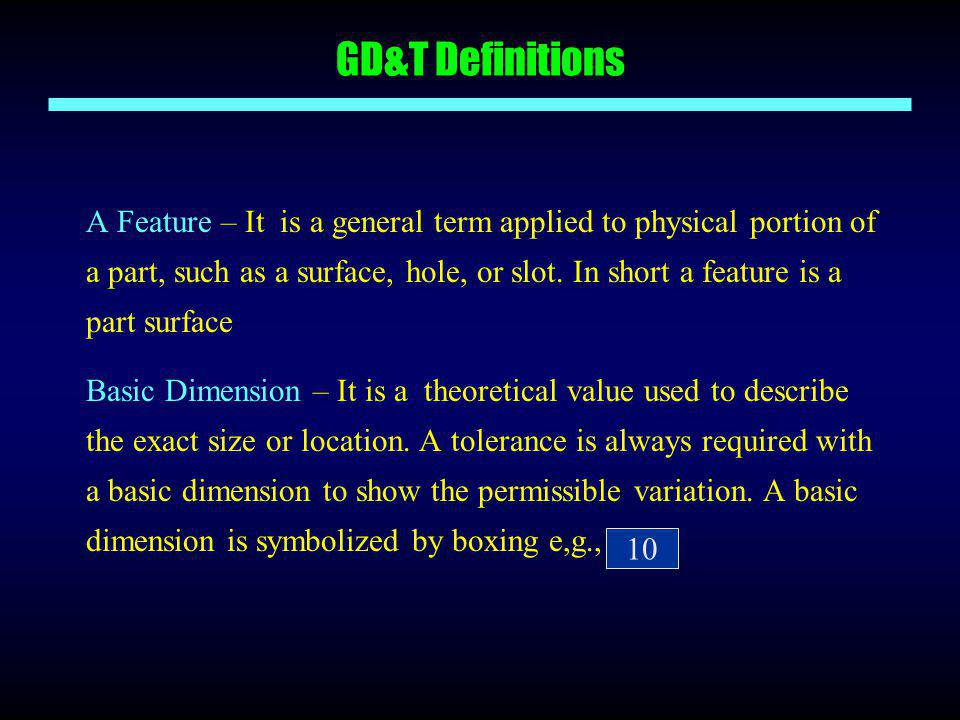 GD&T Definitions