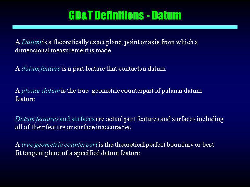 GD&T Definitions - Datum